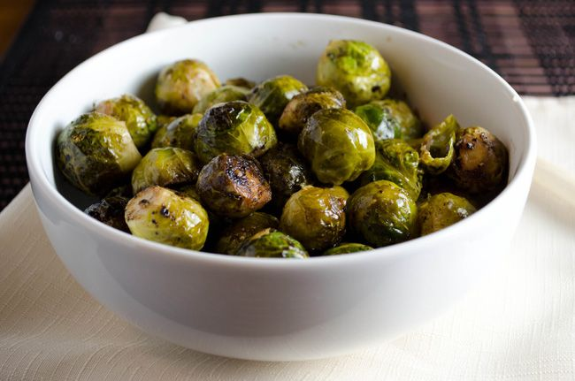 Roasted Balsamic Brussels Sprouts | Para Comer | Pinterest