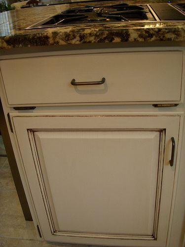 Cream cabinets with glaze  Kitchens  Pinterest