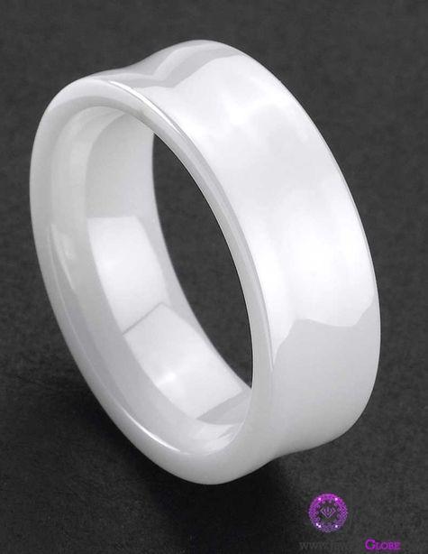 white ceramic wedding bands wedding bells