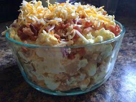 Fully loaded baked potato salad | Gluten Free Potato Recipes | Pinter ...