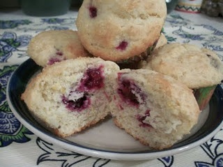 Lemon Ricotta Blackberry Muffins