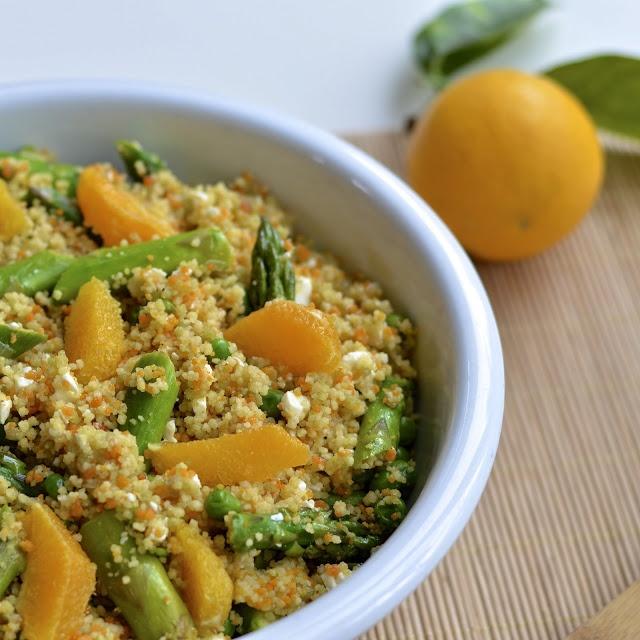 Virtually Homemade: Spring Couscous Salad with a Citrus Vinaigrette