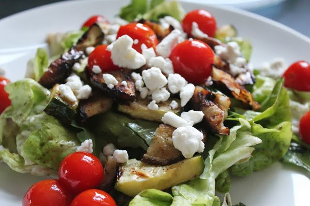 Grilled vegetable salad | Grilled food | Pinterest