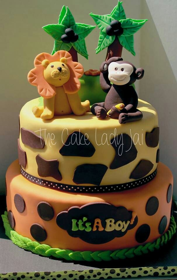 Cake Baby Shower Safari : Safari baby shower cake Baby shower ideas Pinterest