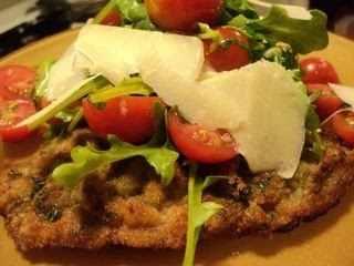 Crisp Veal Milanese, topped with Arugula Salad....