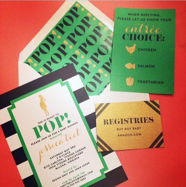 kate mazur spade new york inspired baby shower invitations i custom by