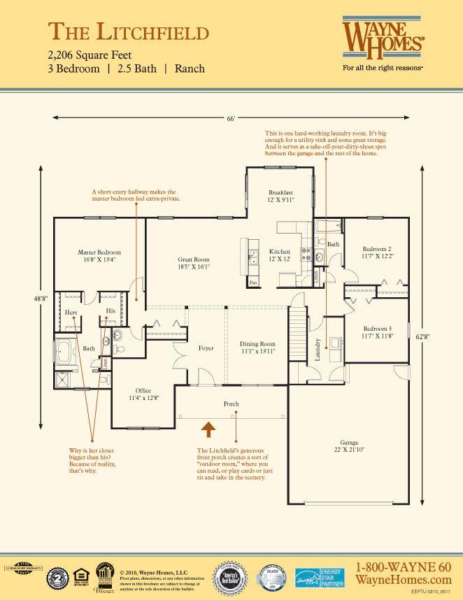Litchfield Wayne Homes Home Plans Pinterest