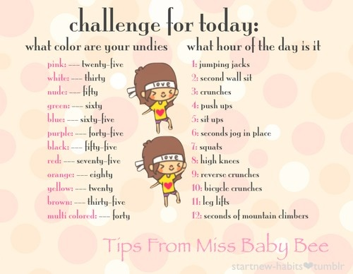 daily challenge exercise pinterest