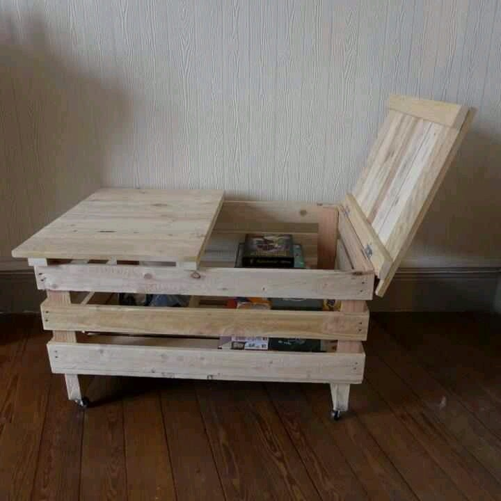 Storage box made from pallets landscaping yard decor for Storage box made from pallets