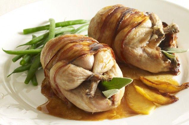 Roast Quail with Apple and Calvados | Recipe