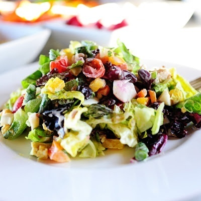 New York Style Chopped Salad... | food ideas | Pinterest