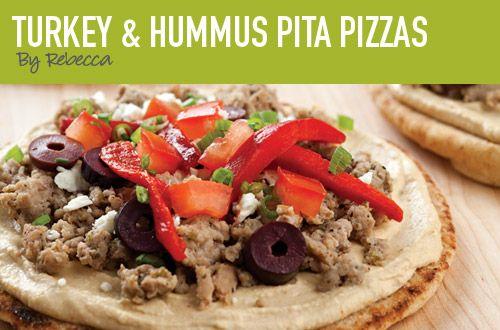 hummus pizza!   Look, Cook, Eat   Pinterest