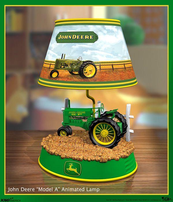 Table Lamp John Deere Tractor : John deere lamp pinterest