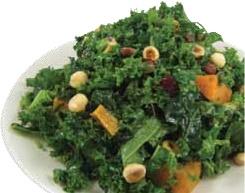 New Season's Kale Salad: Chopped Raw Kale,Toasted Hazelnuts, Roasted ...
