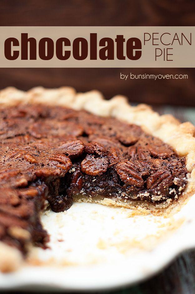 Chocolate Pecan Pie #recipe by bunsinmyoven.com >whenever I serve my ...