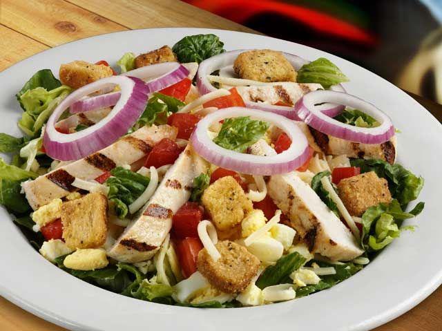Spring Salad w/Grilled Chicken Breast | grilled chicken salad contains ...