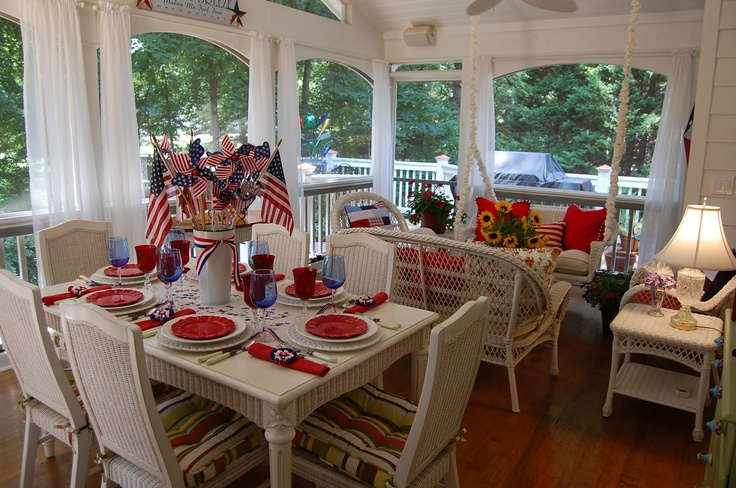 July 4th table setting.  #4thofjuly #fourthofjuly #independenceday #america #flag #table #setting #home #decor #summer