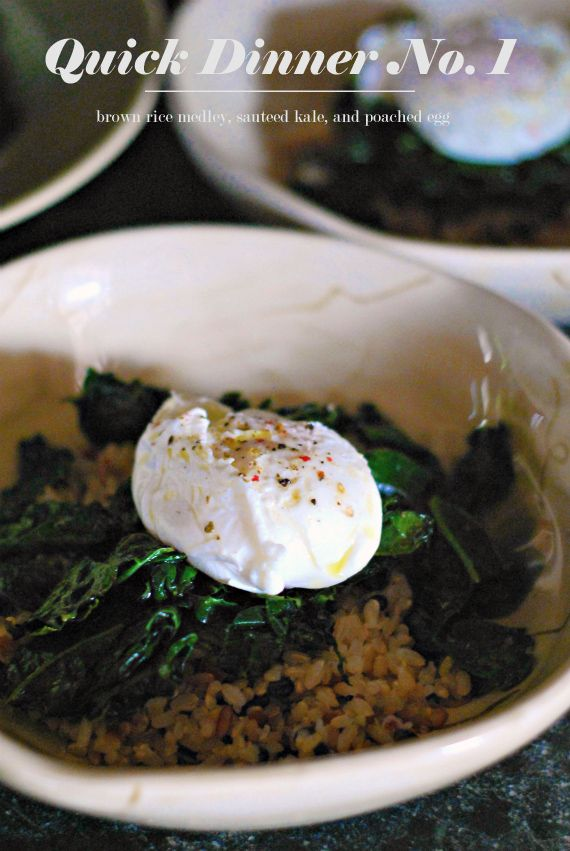 Poached Egg with Kale & Brown Rice