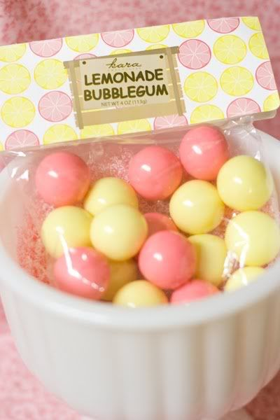 pink lemonade birthday party favors