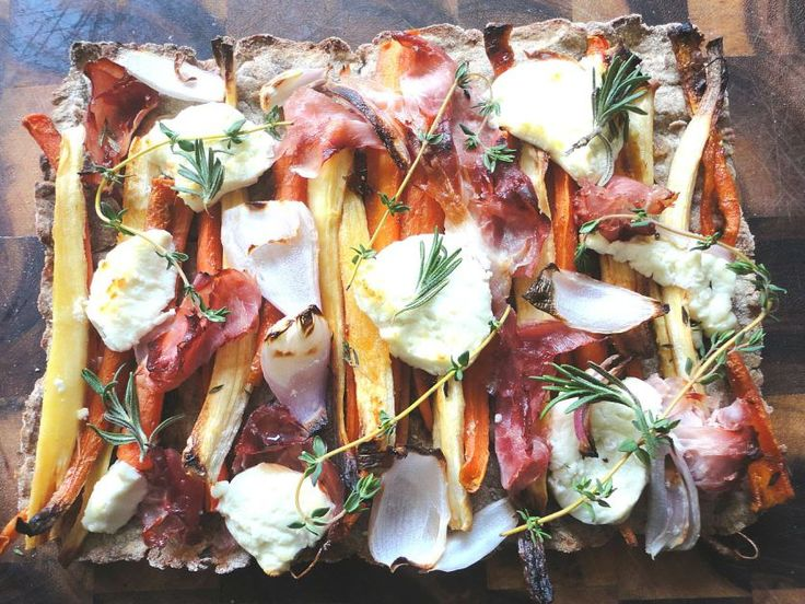 Root & prosciutto tart with goat cheese | Entertaining dishes | Pinte ...