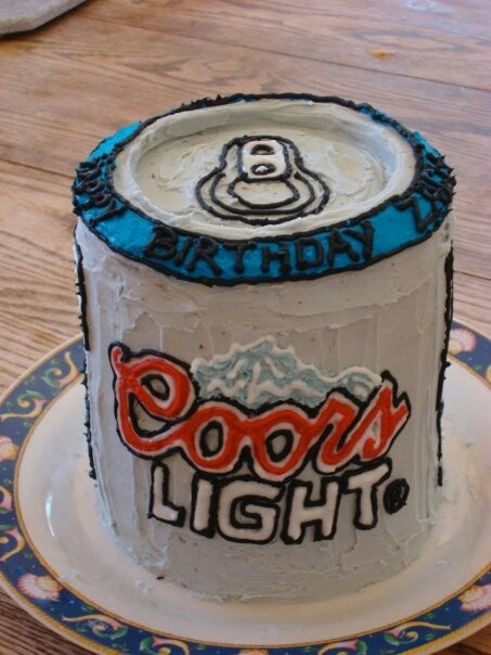 coors light birthday cake
