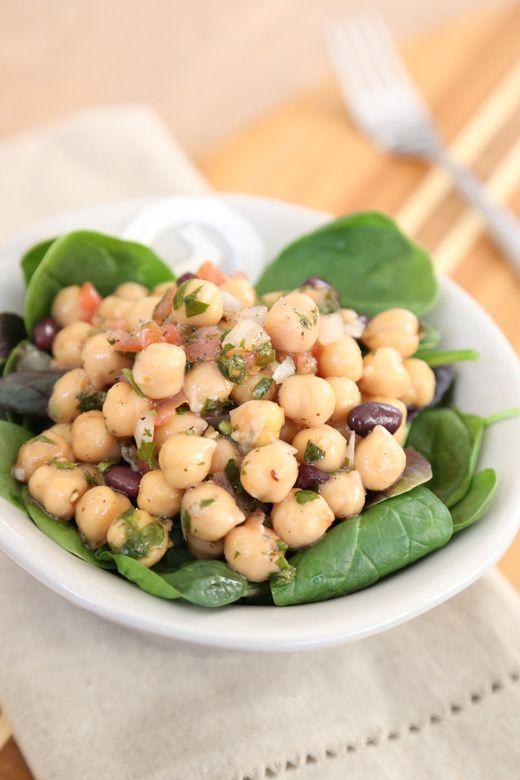Balela Salad (Middle Eastern chickpea & black bean salad)