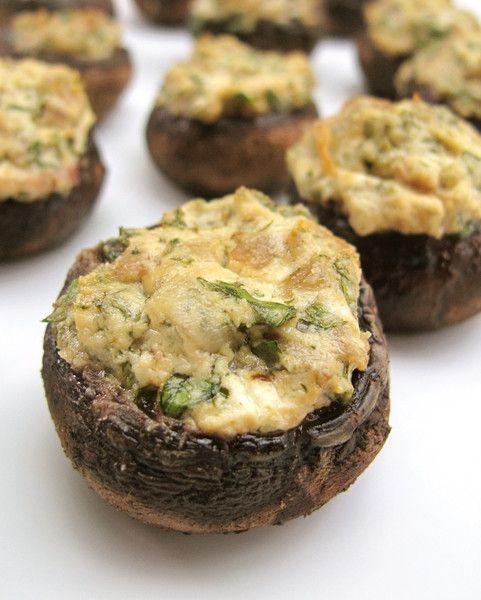 Goat Cheese Stuffed Cremini Mushrooms | I.Love.Food. | Pinterest