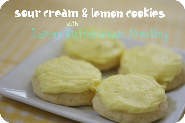 Sour Cream Lemon Cookies with Lemon Buttercream Frosting