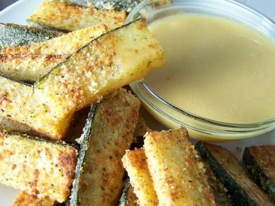 Oven Baked Zucchini Sticks.   tasty   Pinterest