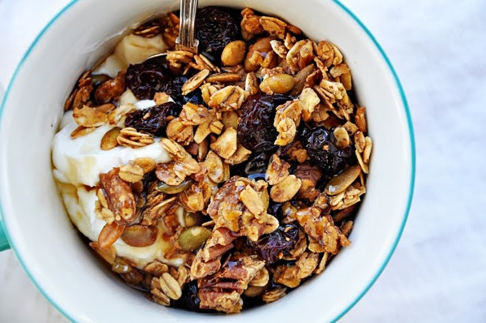 Cherry pecan granola. Great with yogurt.   Eli's Pins   Pinterest