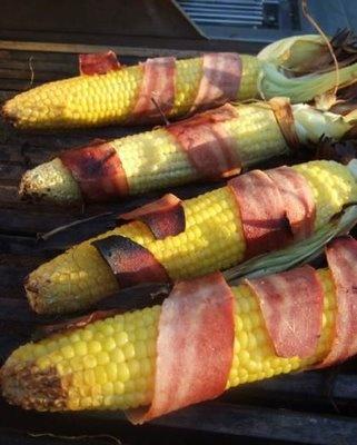 Bacon wrapped corn! | nom nom nom | Pinterest