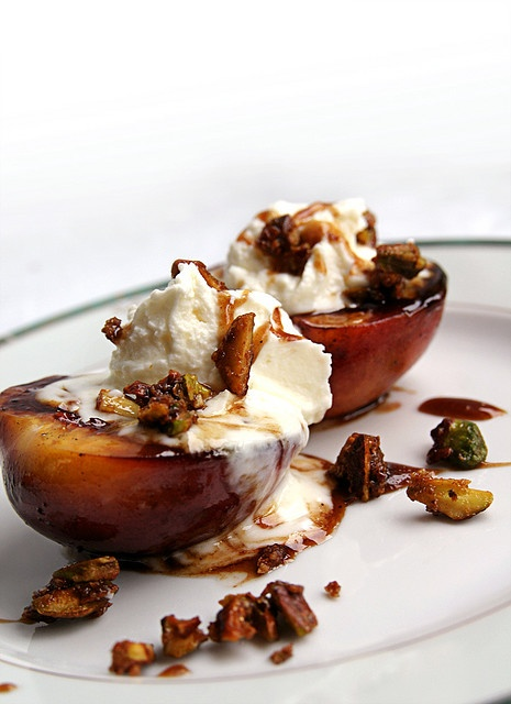 Grilled Nectarines with Balsamic Syrup and Mascarpone by deinin ...
