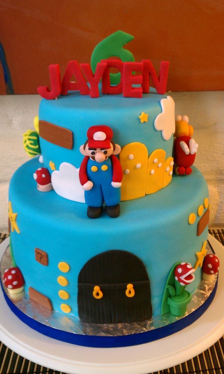 Birthday Cake Design For Big Brother : Super Mario Brothers Birthday Cake Birthday Cake Ideas ...