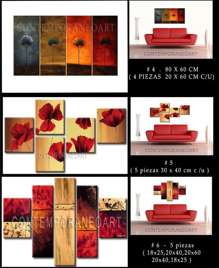 Cuadros sobre bastidor abstractos modernos decorativos for Cuadros decorativos abstractos