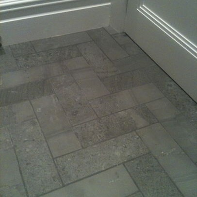 Guest Bath Floor With Wood Grain Tile Mbk Dream Home