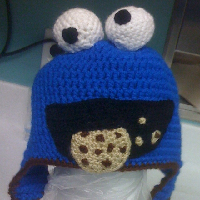 Cookie monster hat Knit and Crochet Pinterest