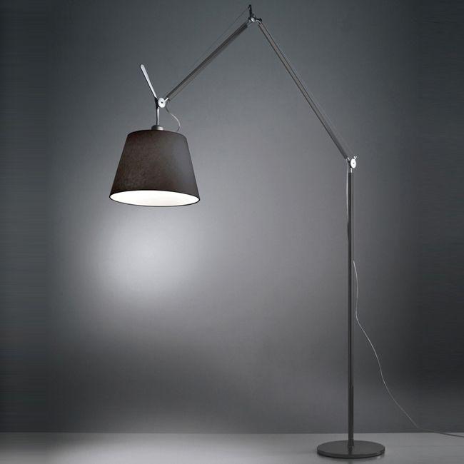tolomeo mega black floor lamp artemide lights on. Black Bedroom Furniture Sets. Home Design Ideas
