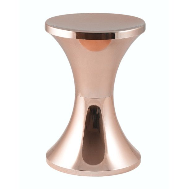 tam tam stool copper. Black Bedroom Furniture Sets. Home Design Ideas