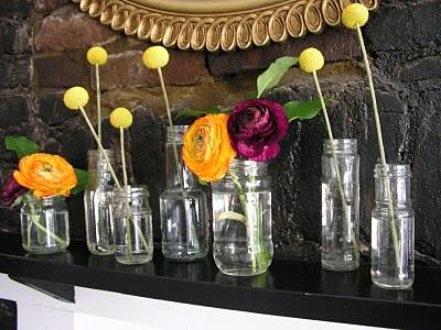 Clean out the fridge diy flower arrangement soak old food jars in
