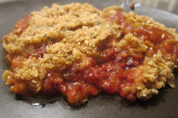 Spicy tomato crumble | $35 a Week | Pinterest