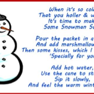 Snowman Soup Recipe | New Calendar Template Site