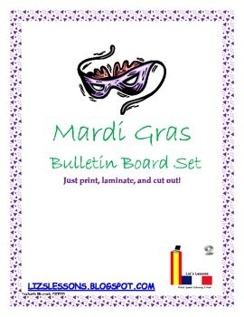 Decorate your classroom for Mardi Gras with this great bulletin board