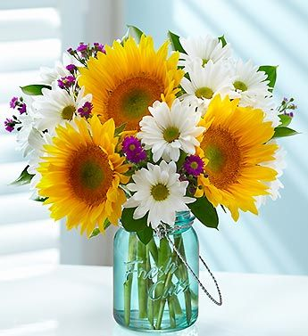 Sunflower summer bouquet for wedding or decor