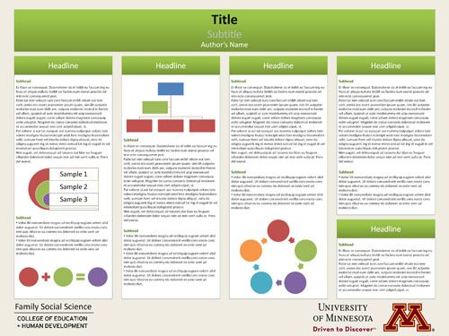 Template for research poster