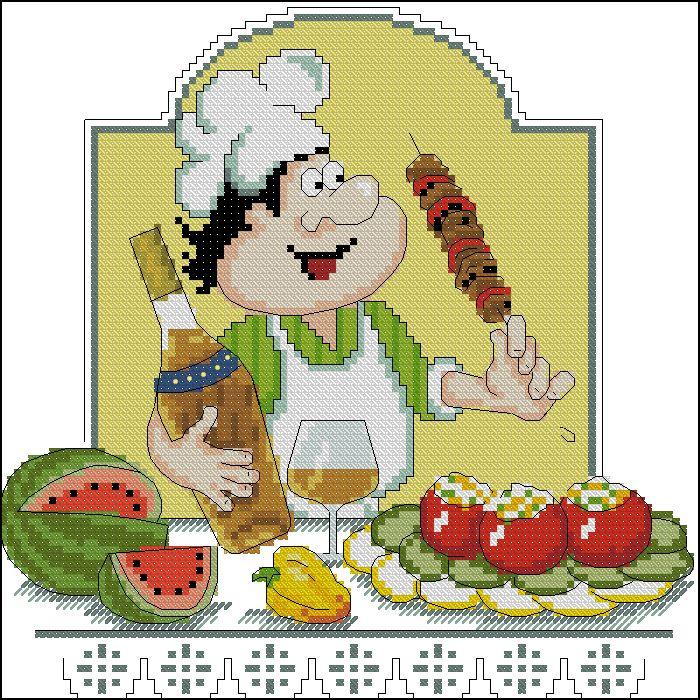 Вышивка крестом кулинария 3220