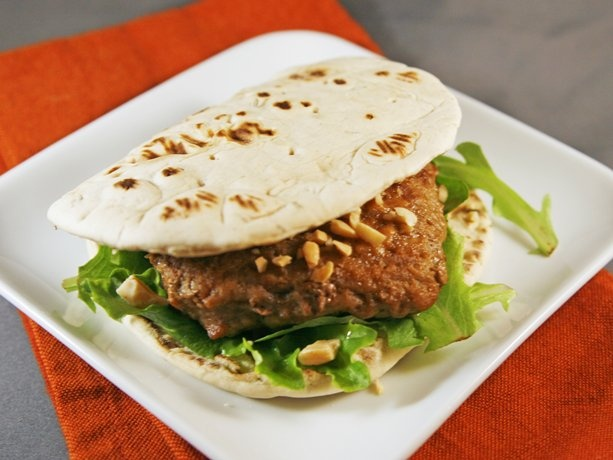 Baked Chicken Satay Burgers