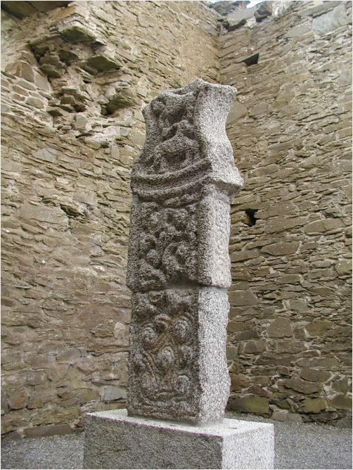 Early christian stone carvings ancient irish ruins and