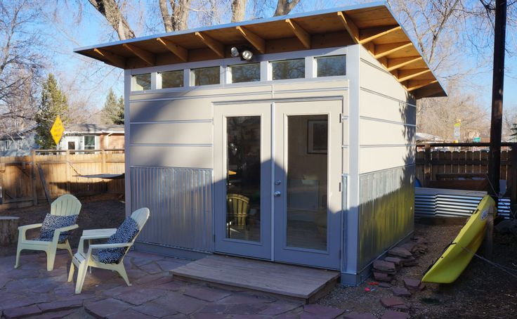 Backyard Man Cave Shed : wwwstudioshedcom Sporty storage? Man cave? Woman cave? Whats your