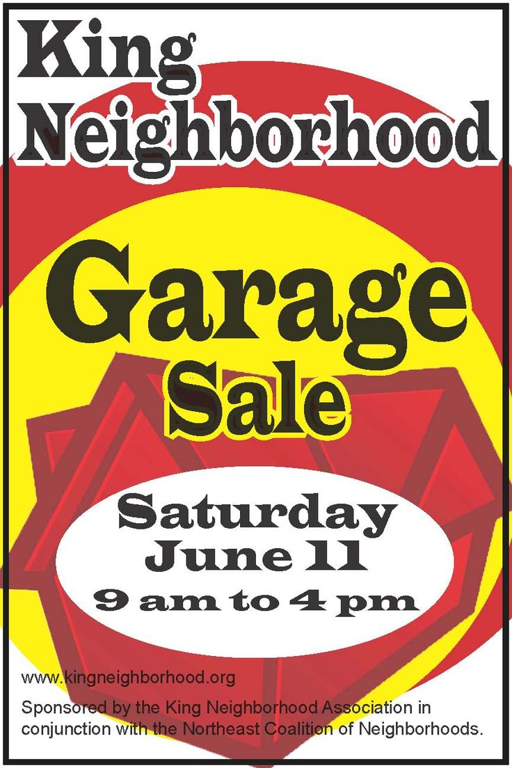 garage sale clip art free | Remember, garage sale signs must be clear ...