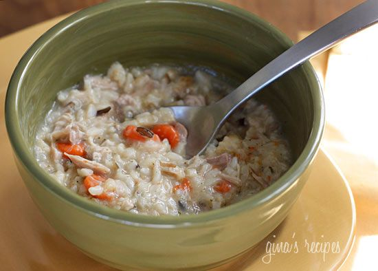 Chicken Shiitake and Wild Rice Soup - This thick and creamy wild rice ...